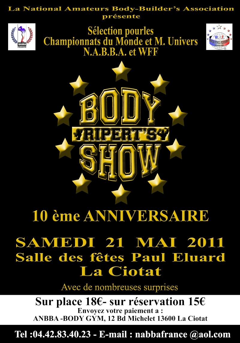 body - RIPERT'BODY SHOW 2011 Affich11
