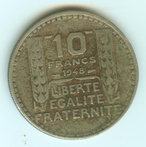 4 eme république - 10 francs 1948 10fran11