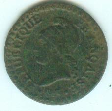 directoire - 1 centime AN 6 A (1798) 1ctan610