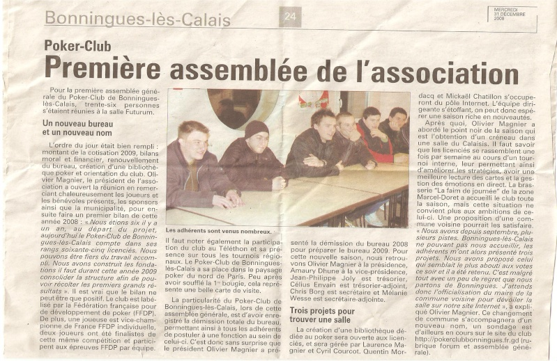 Article de presse Nord littoral Cop110