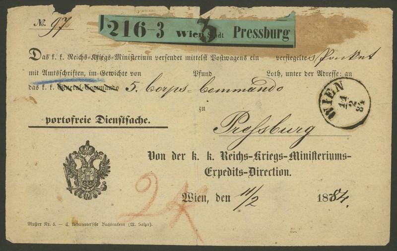 Frachtpost in Österreich / Transporte über Land 0117
