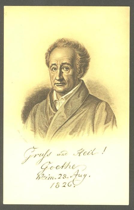 Goethe  -  Ansichten und Handschriften 0311