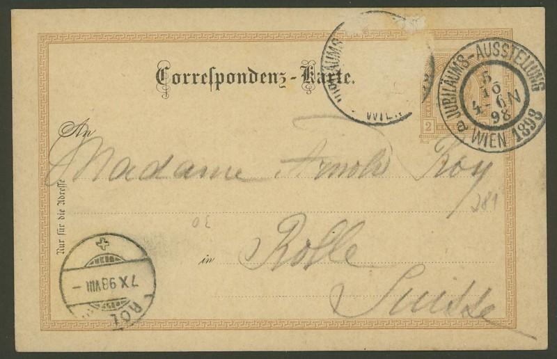 Halbamtliche Ganzsachenpostkarten  -  Gelegenheitsausgaben 1898_n11