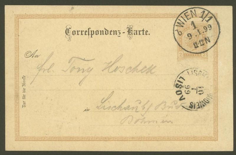 Halbamtliche Ganzsachenpostkarten  -  Gelegenheitsausgaben 1898_s11