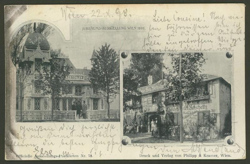 Halbamtliche Ganzsachenpostkarten  -  Gelegenheitsausgaben 1898_t10