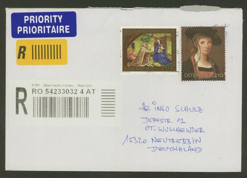 Österreich - Briefe an Cantus 2610