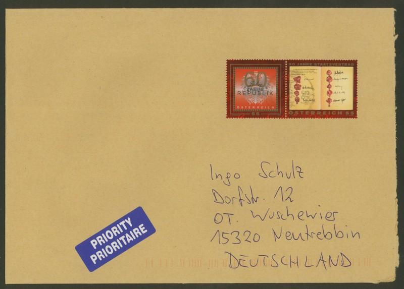 Österreich - Briefe an Cantus 2710