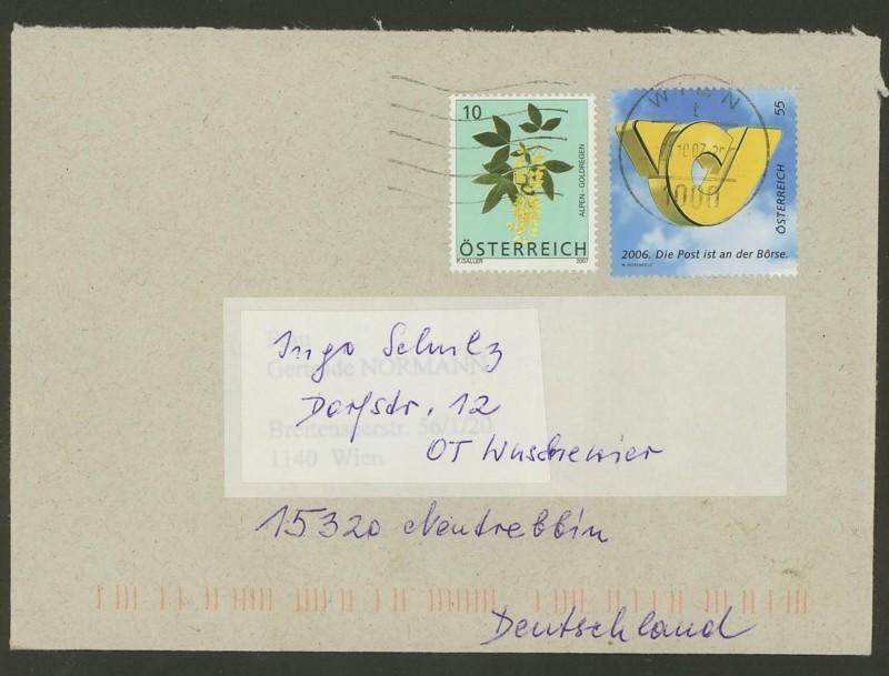 Österreich - Briefe an Cantus 2810
