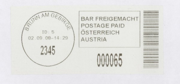 Bar-Codes in Österreich At-bru10