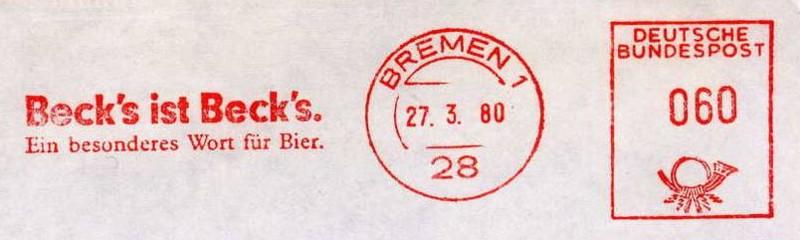 Bierwerbung als Stempelthema Becks_10