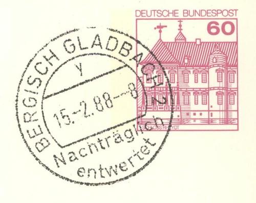 Nachträglich entwertet   -   Stempel aus Deutschland Bergis10