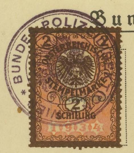 Die Verwendung von Fiskalmarken in Österreich Besitz12