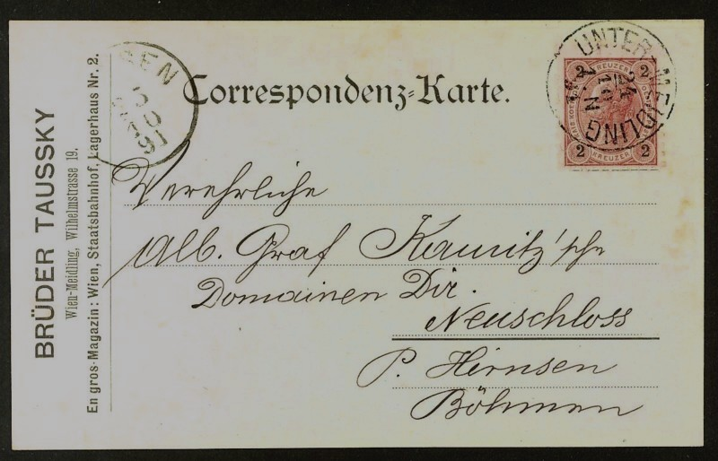Frankierte Firmenpostkarten vor dem 1. Weltkrieg Brader10