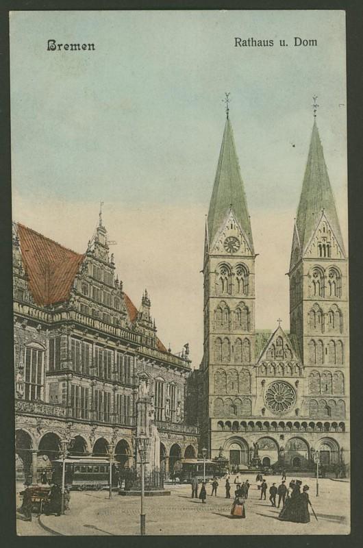Alte Farbkarten deutscher Städte und Landschaften Bremen10