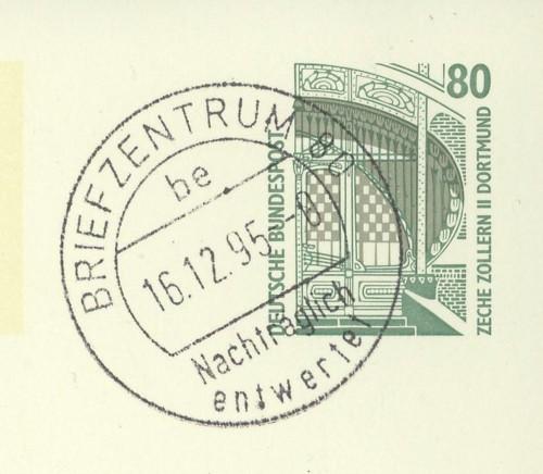 Nachträglich entwertet   -   Stempel aus Deutschland Briefz10