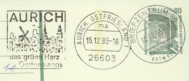 Nachträglich entwertet   -   Stempel aus Deutschland Briefz11