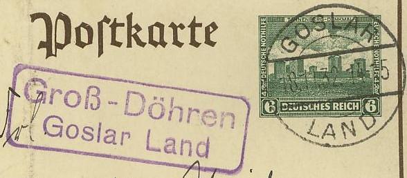 Deutschland  -  Landpoststempel (Poststellenstempel) Groay_11