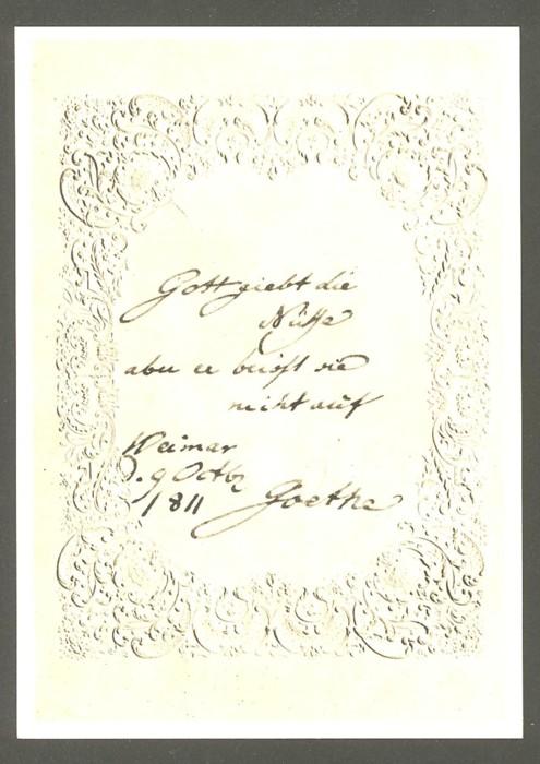 Goethe  -  Ansichten und Handschriften H_0110