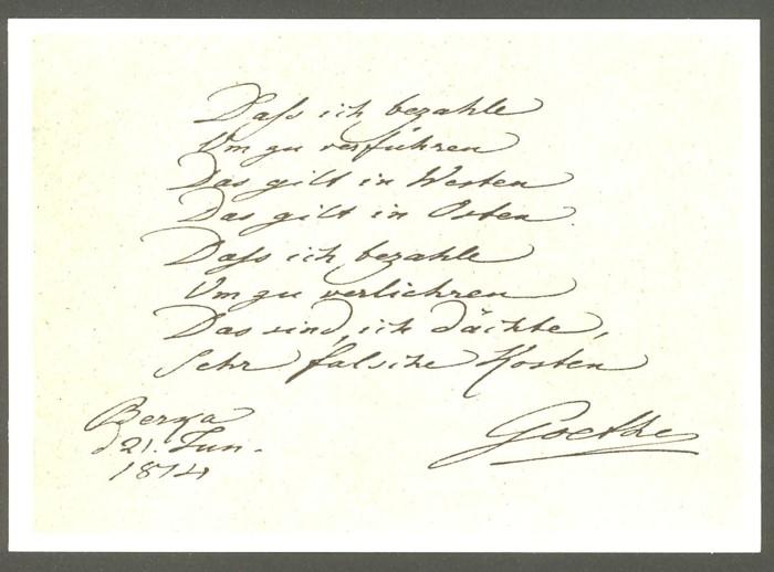 Goethe  -  Ansichten und Handschriften H_0210
