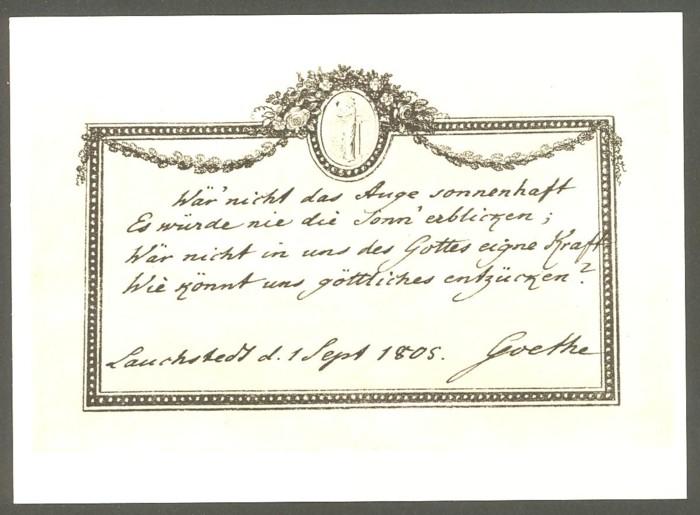 Goethe  -  Ansichten und Handschriften H_0310