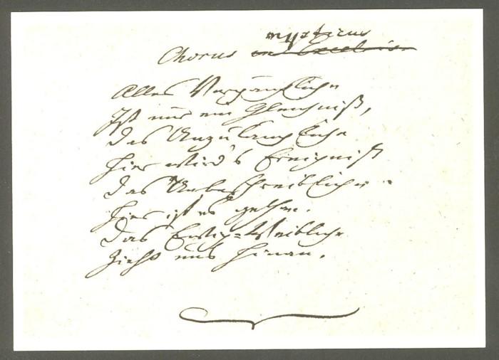 Goethe  -  Ansichten und Handschriften H_0410