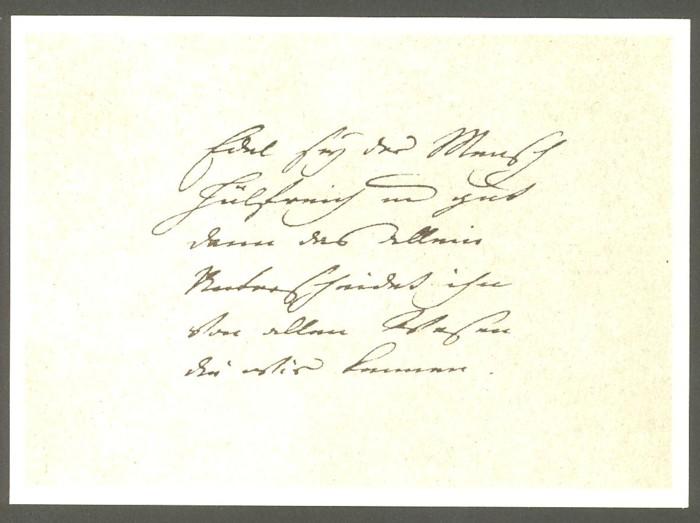 Goethe  -  Ansichten und Handschriften H_0510