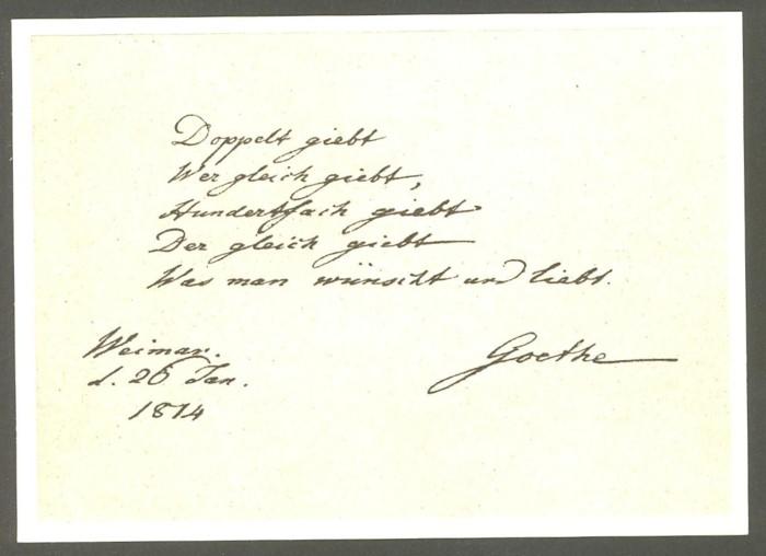 Goethe  -  Ansichten und Handschriften H_0610