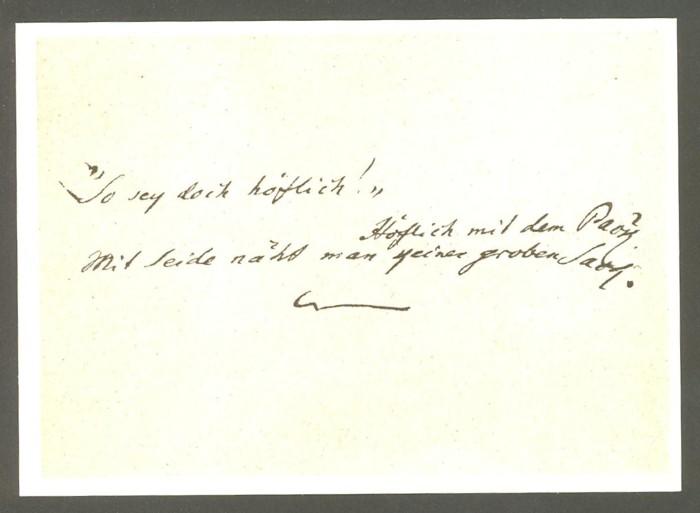 Goethe  -  Ansichten und Handschriften H_0710