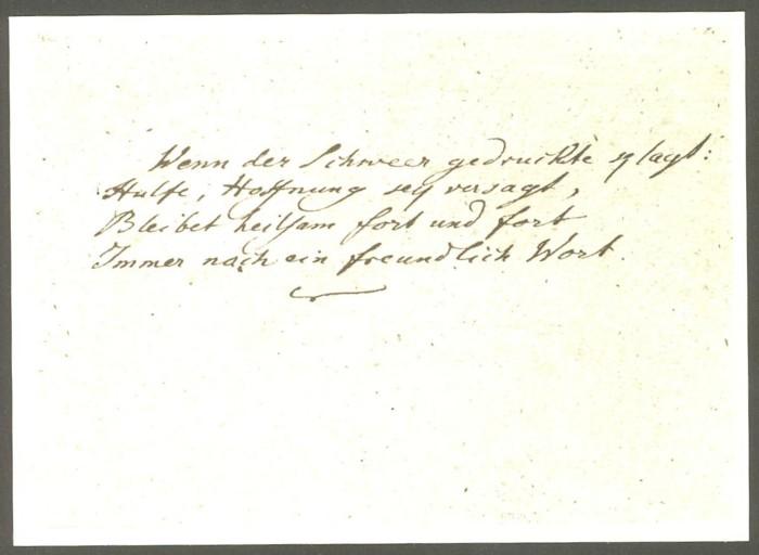 Goethe  -  Ansichten und Handschriften H_0810