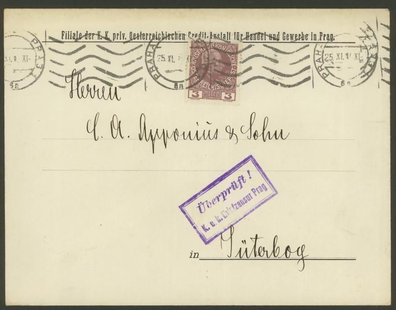 Briefe / Poststücke österreichischer Banken Handel10