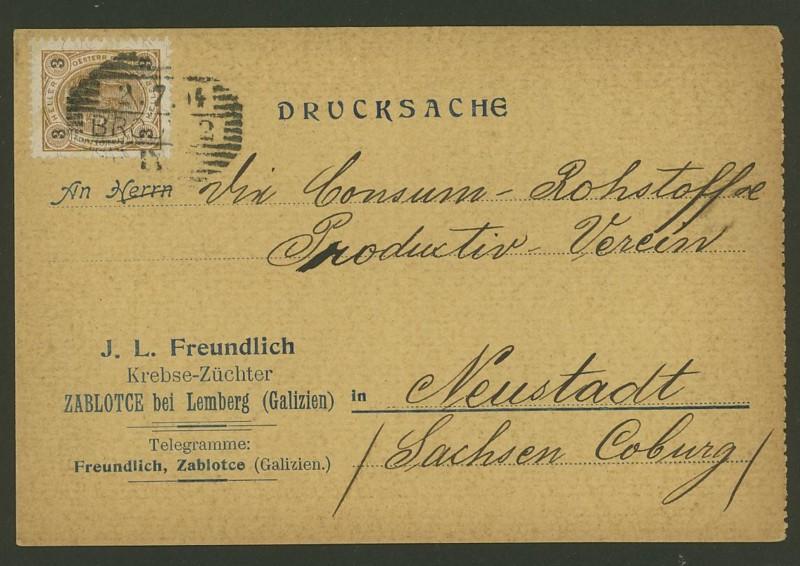 Frankierte Firmenpostkarten vor dem 1. Weltkrieg J_l_fr10