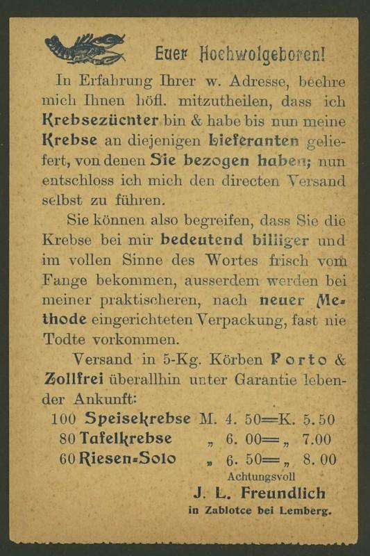 Frankierte Firmenpostkarten vor dem 1. Weltkrieg J_l_fr11