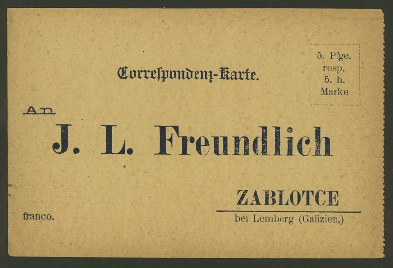 Frankierte Firmenpostkarten vor dem 1. Weltkrieg J_l_fr12