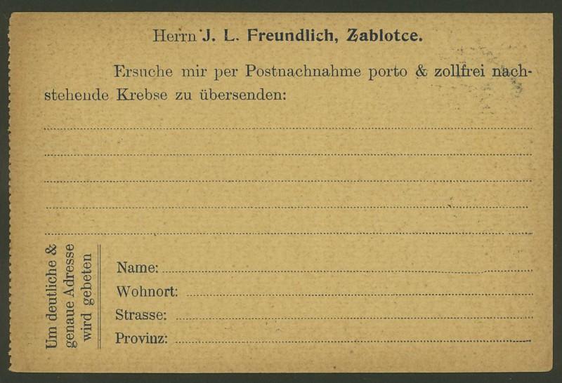 Frankierte Firmenpostkarten vor dem 1. Weltkrieg J_l_fr13