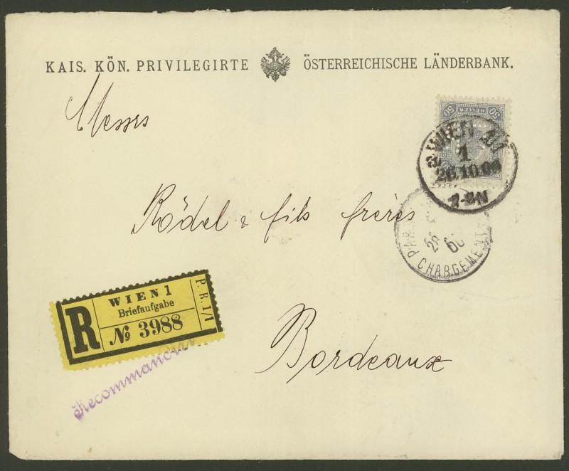 Briefe / Poststücke österreichischer Banken K_k_pr10