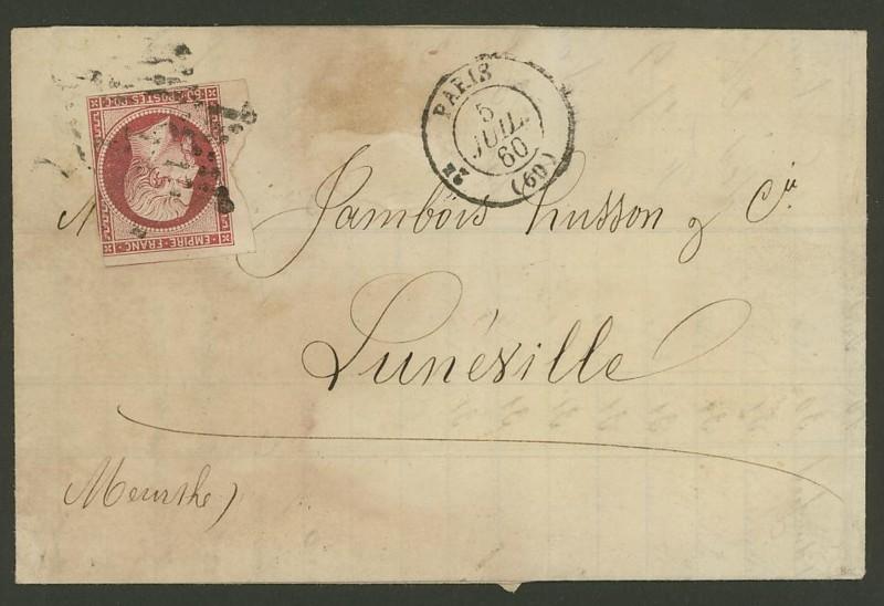 Frankreich  -  Poststücke mit Marken Type Napoleon Mi_16c11