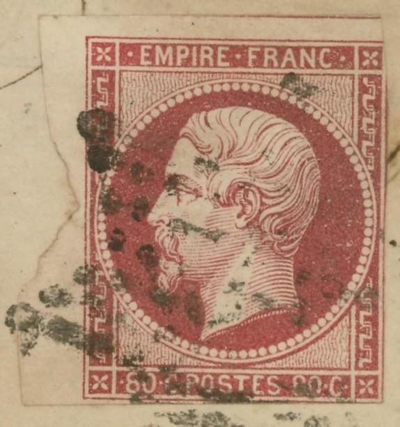 Frankreich  -  Poststücke mit Marken Type Napoleon Mi_16c12