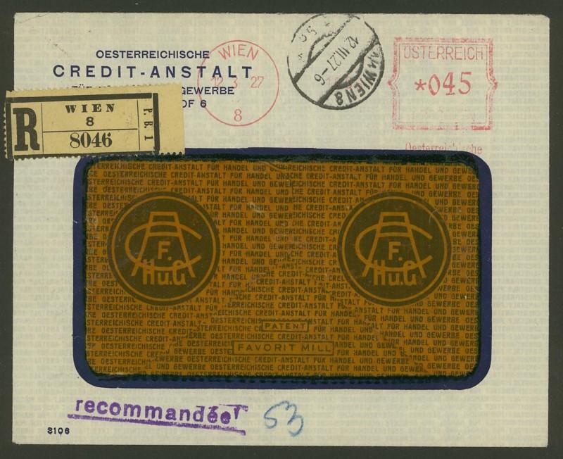 Briefe / Poststücke österreichischer Banken Oester11