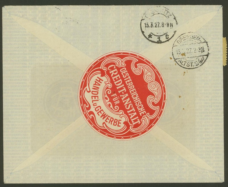 Briefe / Poststücke österreichischer Banken Oester12
