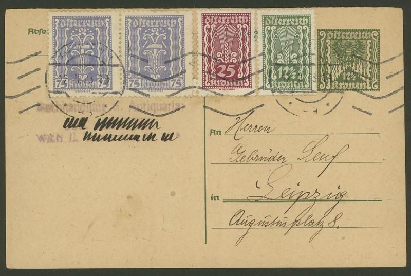 """Postkartenserie """"Quadratischer Wertstempel - Wertziffer im Dreieck"""" 1922-24 - Seite 2 P_251_14"""