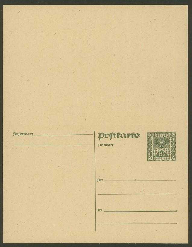 """Postkartenserie """"Quadratischer Wertstempel - Wertziffer im Dreieck"""" 1922-24 P_252_11"""