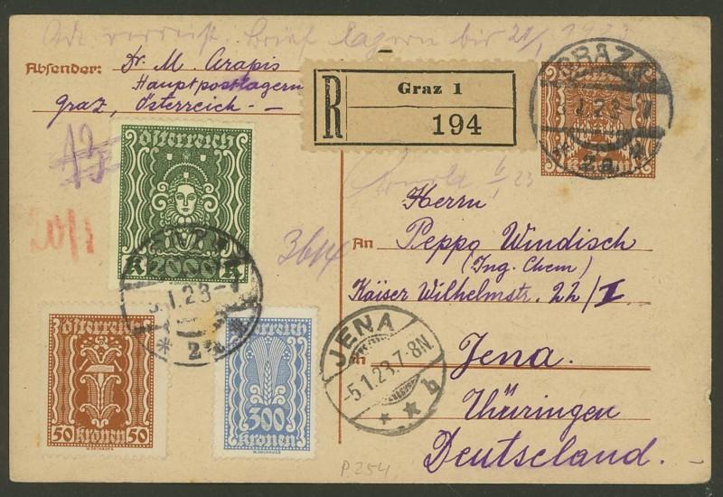 """Postkartenserie """"Quadratischer Wertstempel - Wertziffer im Dreieck"""" 1922-24 - Seite 2 P_25410"""