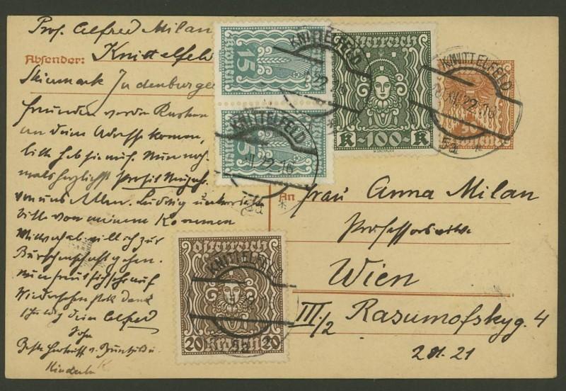 """Postkartenserie """"Quadratischer Wertstempel - Wertziffer im Dreieck"""" 1922-24 - Seite 4 P_25411"""