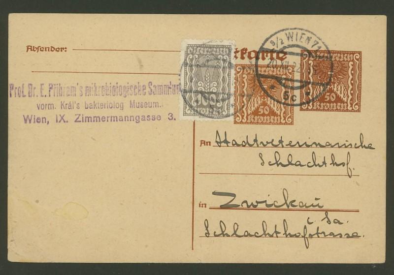 """Postkartenserie """"Quadratischer Wertstempel - Wertziffer im Dreieck"""" 1922-24 - Seite 2 P_25610"""