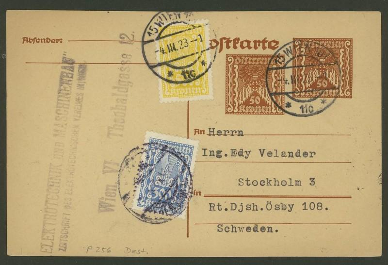 """Postkartenserie """"Quadratischer Wertstempel - Wertziffer im Dreieck"""" 1922-24 - Seite 2 P_256_10"""
