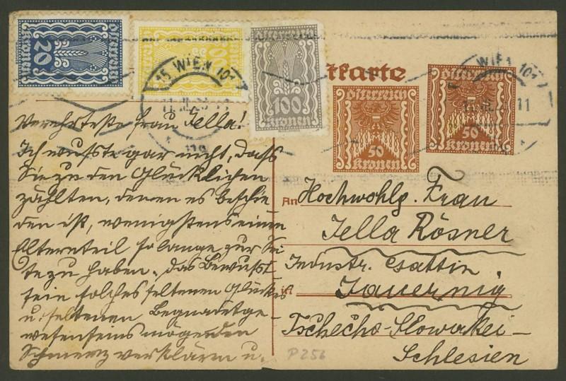 """Postkartenserie """"Quadratischer Wertstempel - Wertziffer im Dreieck"""" 1922-24 - Seite 2 P_256_11"""