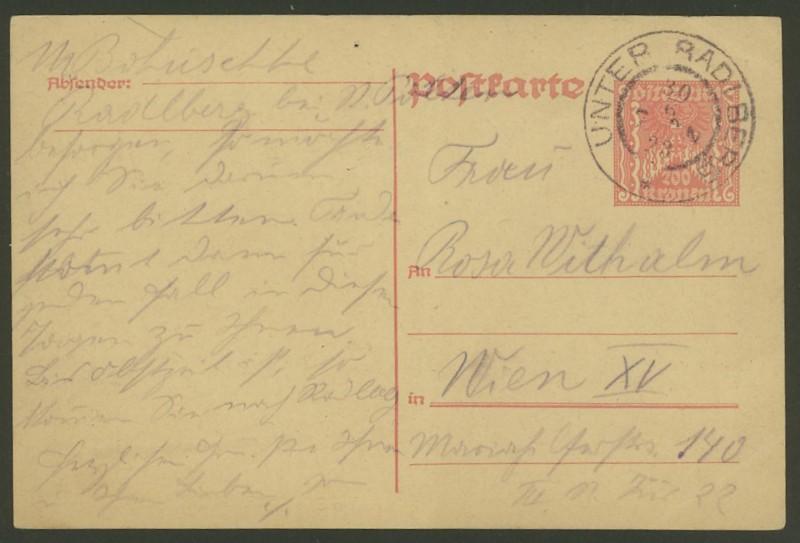 """Postkartenserie """"Quadratischer Wertstempel - Wertziffer im Dreieck"""" 1922-24 - Seite 2 P_25912"""