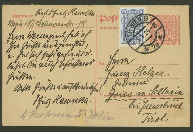 """Postkartenserie """"Quadratischer Wertstempel - Wertziffer im Dreieck"""" 1922-24 - Seite 2 P_260_10"""