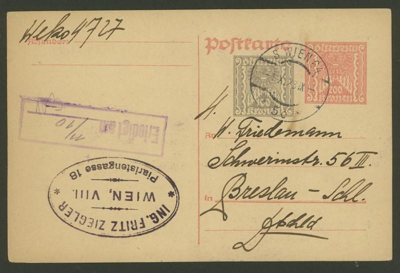 """Postkartenserie """"Quadratischer Wertstempel - Wertziffer im Dreieck"""" 1922-24 - Seite 2 P_26112"""