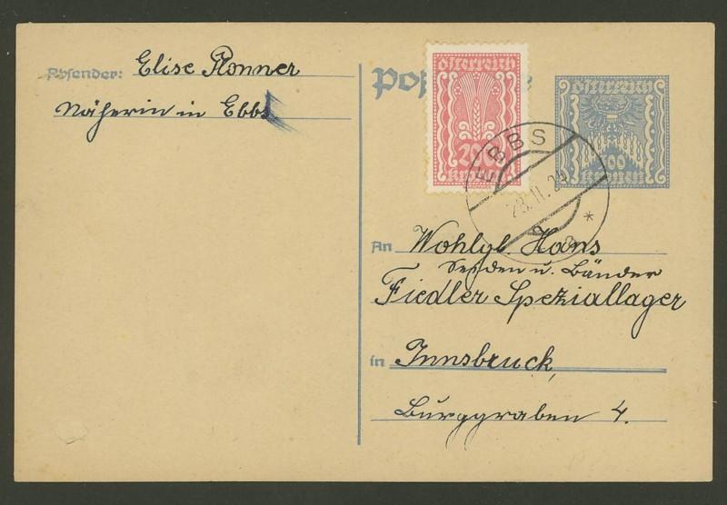 """Postkartenserie """"Quadratischer Wertstempel - Wertziffer im Dreieck"""" 1922-24 - Seite 3 P_26210"""